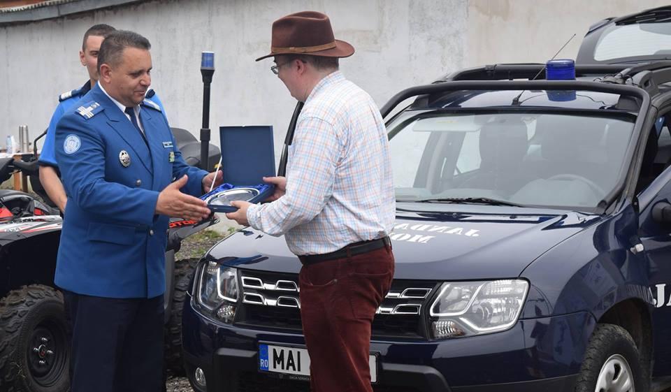 Ambasadorul Marii Britanii, în vizită la Jandarmeria Hunedoara