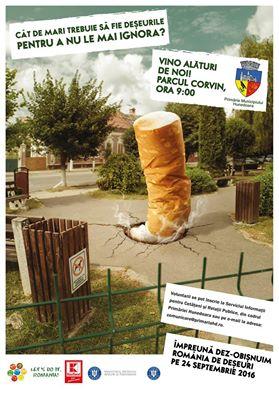 """Hunedoara Acțiune de ecologizare în parcul Corvin, în cadrul campaniei """"Let's Do It, Romania!"""""""