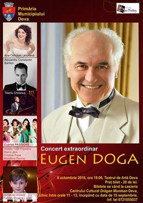 """Deva: Compozitorul care a semnat muzica filmului """"Şatra"""", în concert extraordinar la Teatrul de Artă"""