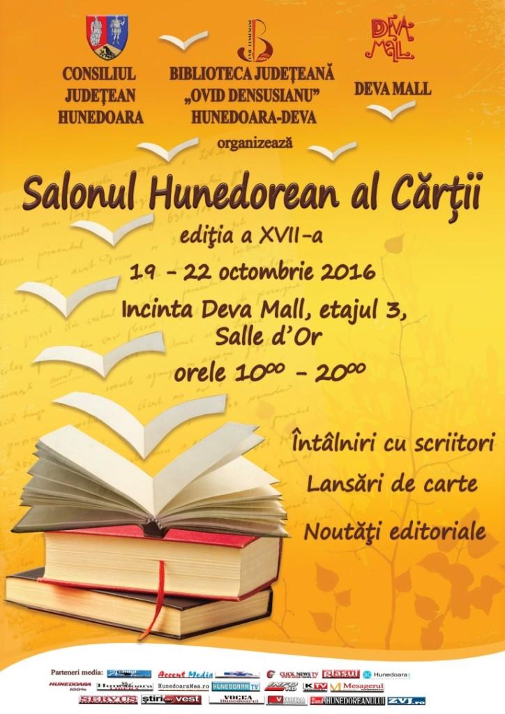 Deva: Salonul Hunedorean al Cărții se va desfășura în perioada 19-22 octombrie