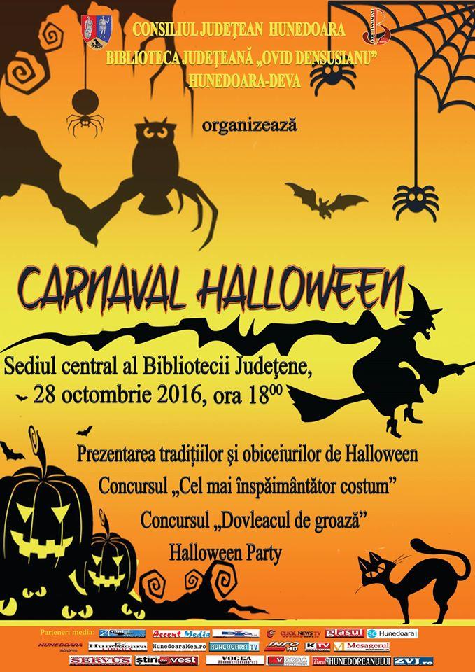 Carnaval Halloween la Deva (azi, ora 18)