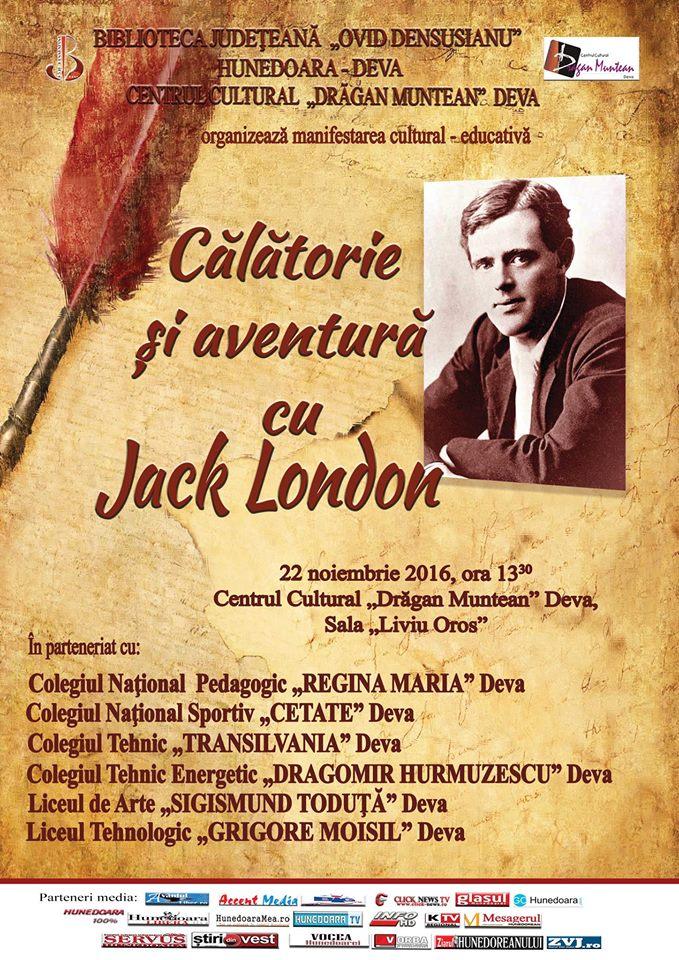 """Jack London, omagiat la Biblioteca Județeană """"Ovid Densusianu"""" Hunedoara-Deva"""