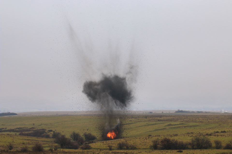Distrugeri de muniţie în Poligonul Dealul Paiului