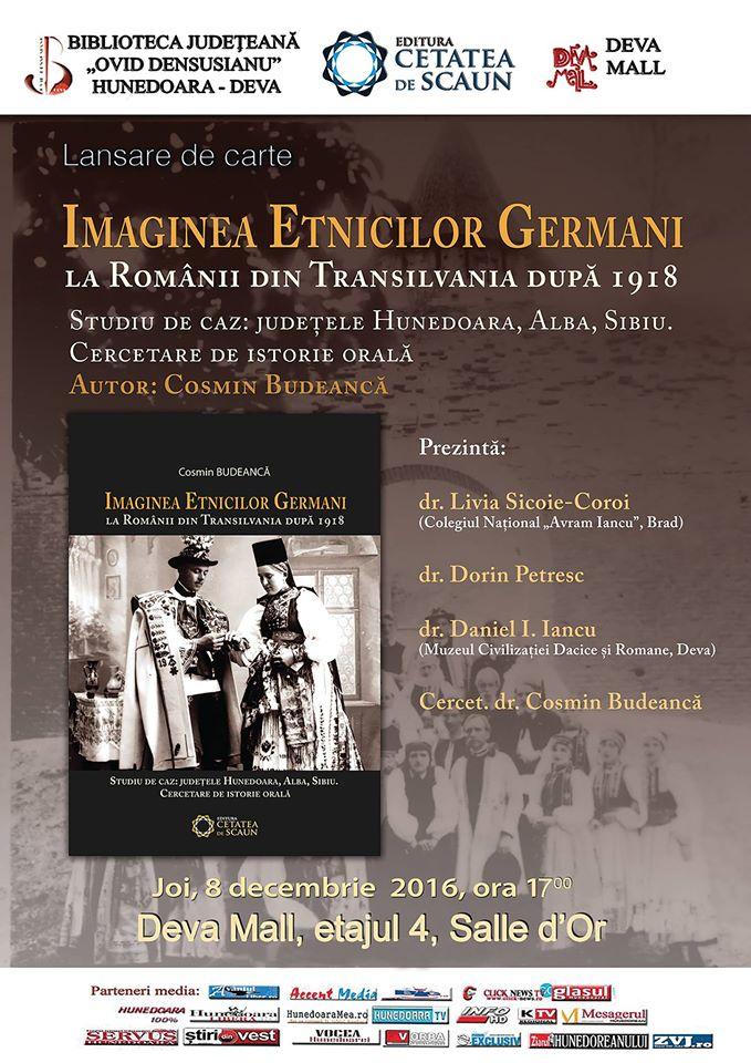 Deva: Lansare de carte - Cosmin Budeancă (8 decembrie, ora 17)