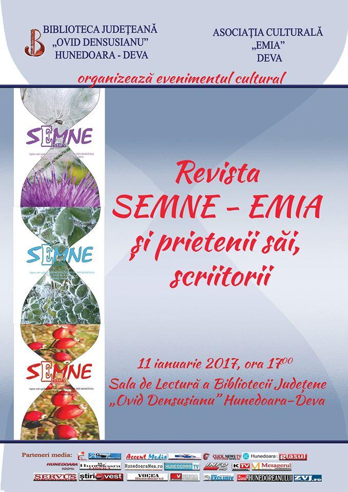 Deva: Revista Semne-Emia va fi lansată pe 11 ianuarie (ora 17)