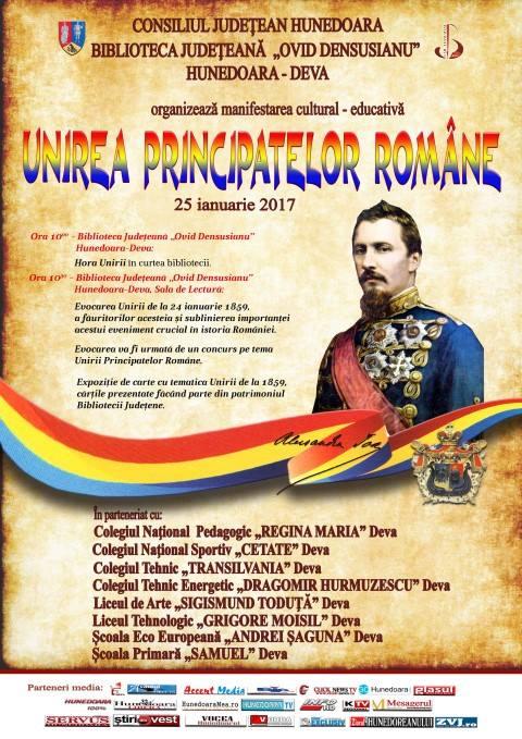 """Unirea Principatelor Române, sărbătorită de Biblioteca Județeană """"Ovid Densușianu"""" Deva"""