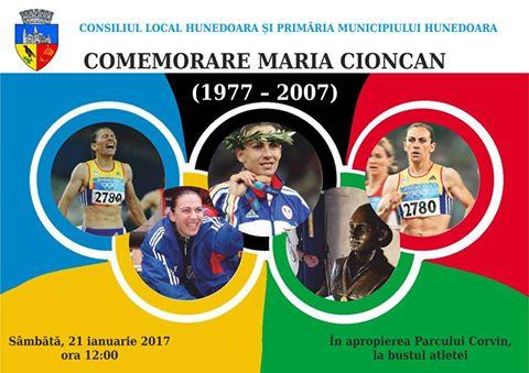 Atleta Maria Cioncan va fi comemorată sâmbătă în Hunedoara