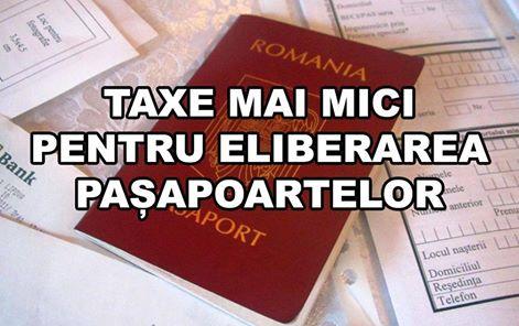 Taxe mai mici pentru eliberarea paşapoartelor, de la 1 februarie