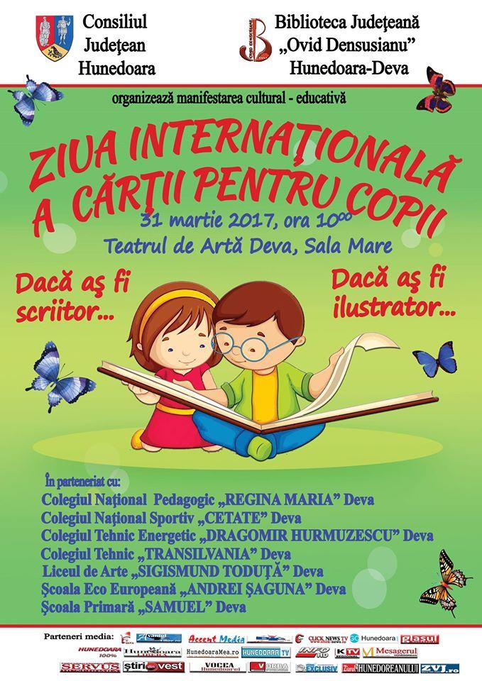 Biblioteca Județeană din Deva va marca Ziua Internațională a Cărții pentru Copii