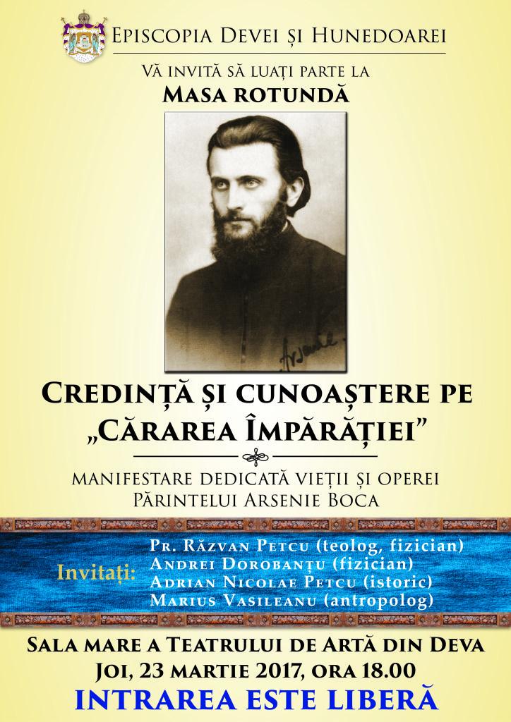 Masă rotundă dedicată vieții și operei Părintelui Arsenie Boca