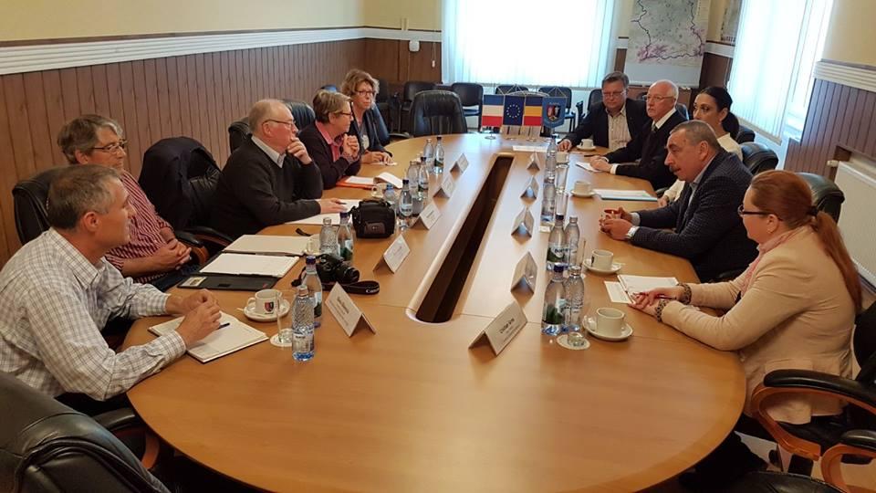 Delegație franceză, în vizită la Consiliul Județean Hunedoara