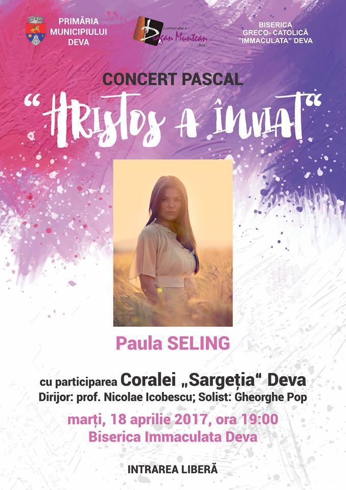 "Paula Seling va susține un concert pascal la Biserica ""Immaculata"" din Deva"