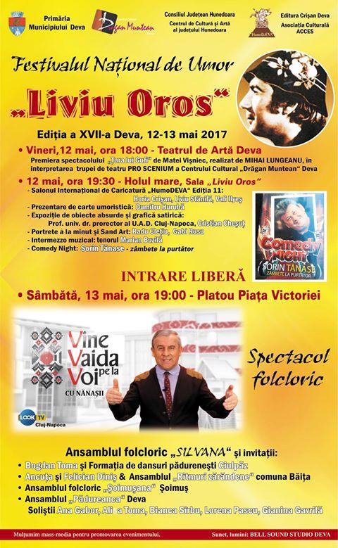 """Festivalul Național de Umor """"Liviu Oros"""" (Deva, 12-13 mai)"""