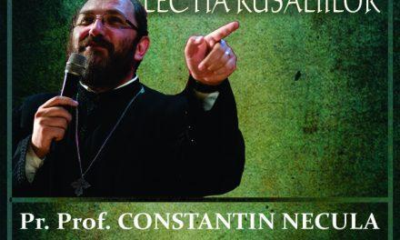 Conferință teologică la Hunedoara, susținută de părintele profesor dr. Constantin Necula