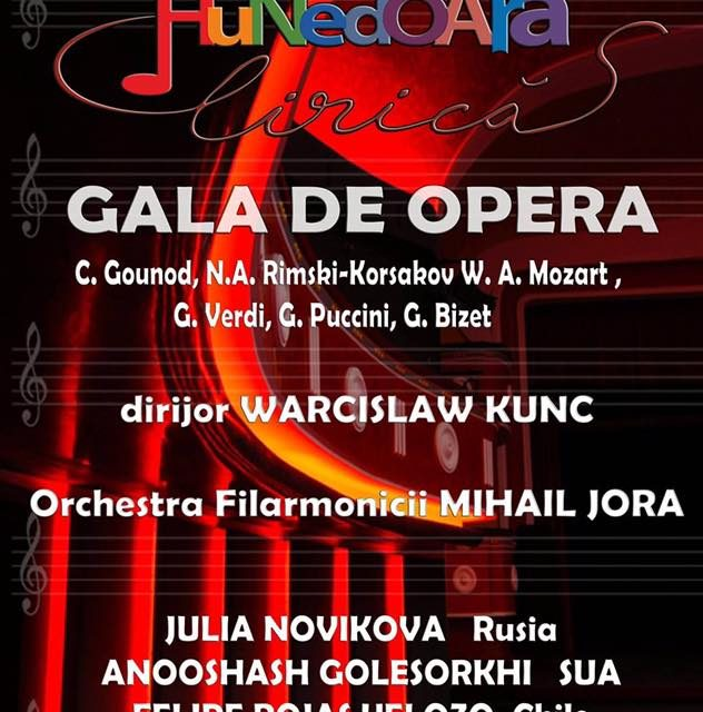 """Festivalul internaţional de operă şi muzică clasică  """"Hunedoara Lirică"""" 2017 se desfășoară în Deva"""