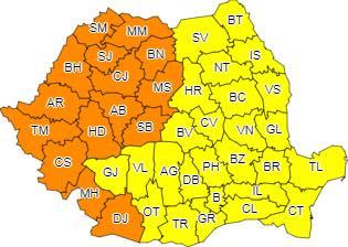 Avertizare meteo – Cod portocaliu de caniculă în județul Hunedoara în 2 și 3 august