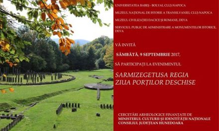 Sâmbătă, 9 septembrie, Ziua porților deschise la Sarmizegetusa Regia