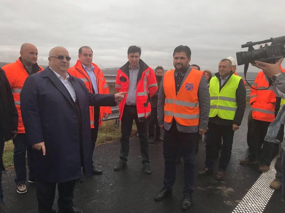 Ministrul Transporturilor, Felix Stroe, în vizită pe șantierul autostrăzii Lugoj-Deva