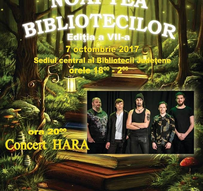 """Concert Hara în Deva, la """"Noaptea Bibliotecilor"""""""
