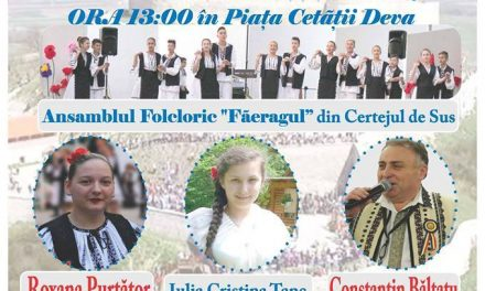 Concert de muzică populară în Piața Cetății din Deva