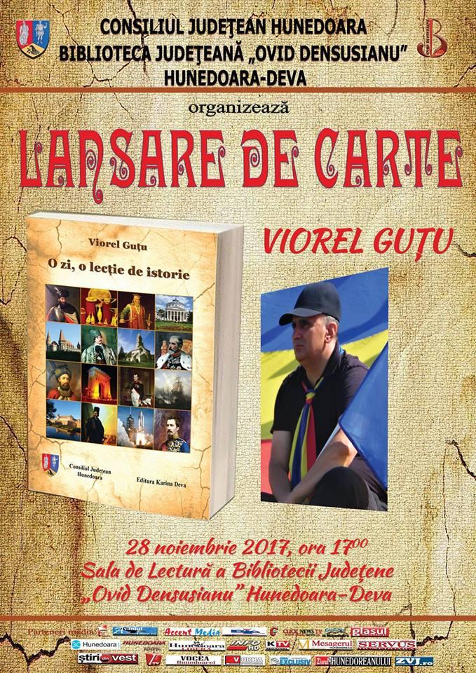 Lansare de carte Viorel Guțu la Biblioteca Județeană Deva