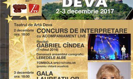 """Recital extraordinar Corina Chiriac la """"Stelele Cetății 2017"""" (Deva, 3 decembrie)"""