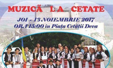 Concert de muzică populară în Piața Cetății din Deva (joi, 16 noiembrie)