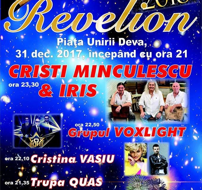 Deva: Revelion în aer liber cu Cristi Minculescu și Iris