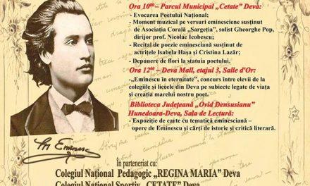"""Ziua Culturii Naționale, sărbătorită la Biblioteca Județeană """"Ovid Densusianu"""" Hunedoara-Deva"""