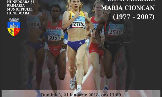 Ceremonie de comemorare a atletei Maria Cioncan (Hunedoara, 21 ianuarie)