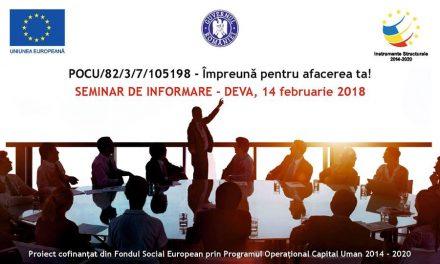 Seminar de informare la Deva