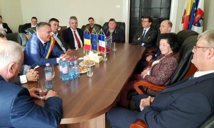 O delegație din Franța vizitează municipiul Deva