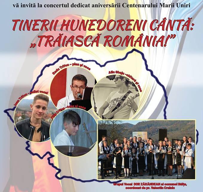 """Concert dedicat Centenarului, la Centrul Cultural """"Drăgan Muntean"""" din Deva"""