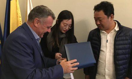 Întâlnire româno-chineză la Primăria Deva