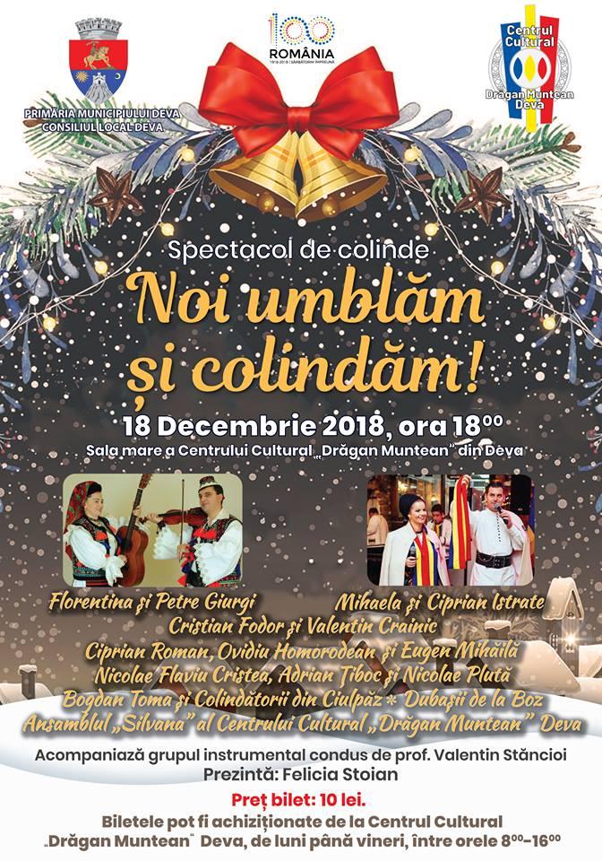 "Concert de colinde la Centrul Cultural ""Drăgan Muntean"" Deva"