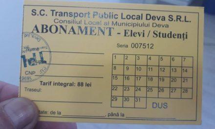 Elevii pot depune, și în format electronic, actele pentru abonamentele gratuite pentru transportul în comun din Deva
