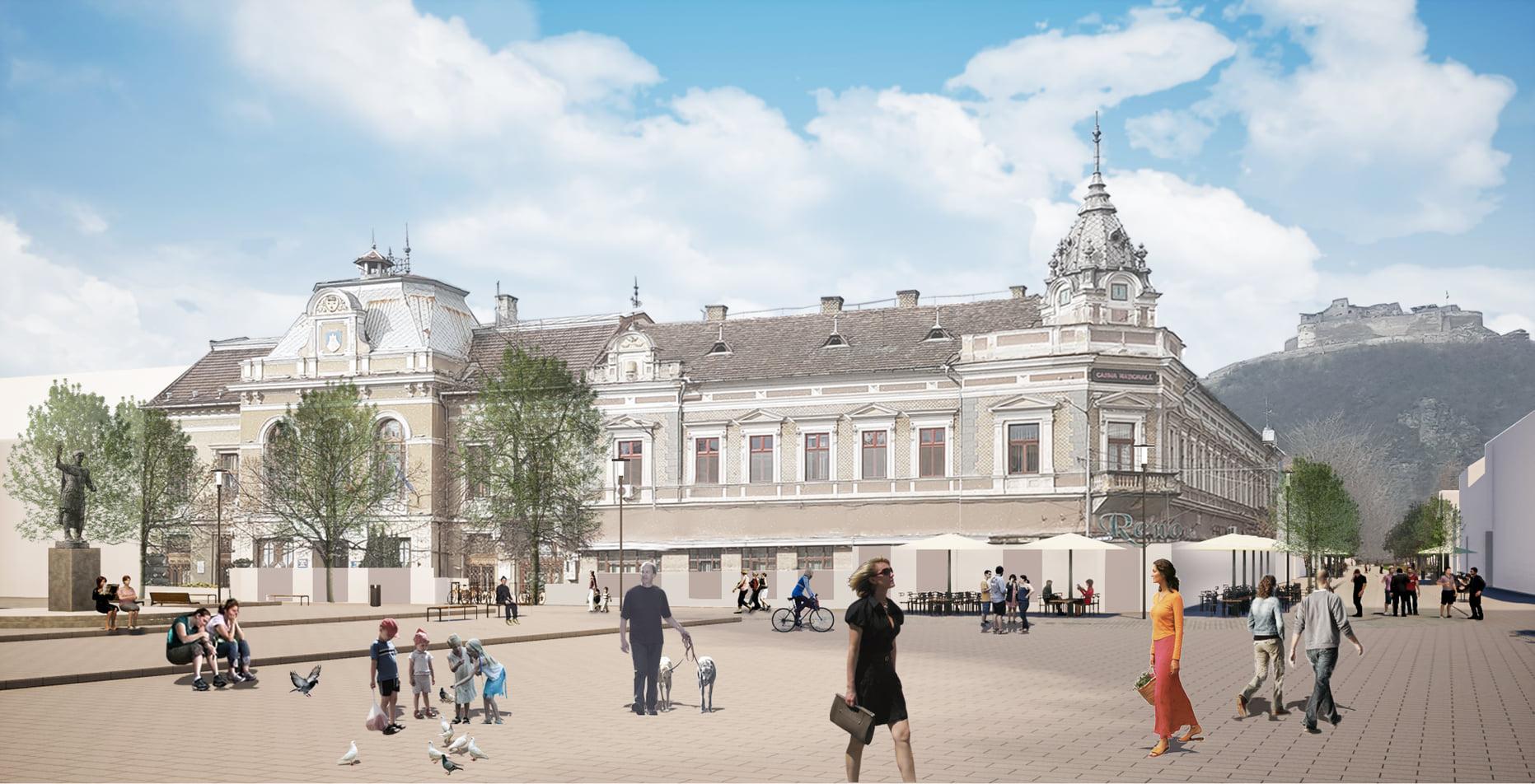 Cum va arăta centrul istoric al Devei